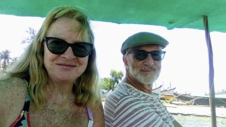 Pauline and Michael Ashley on holiday in Goa. Pic: submitted