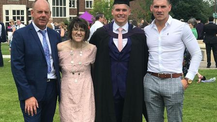 L-R, Michael and Sharon Payne with their sons Jasper and Alec. Picture: Payne family