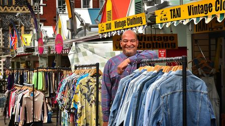 Chairman of Norwich Market Traders Association and owner of Taxi Vintage Clothing stall, Mark Wright