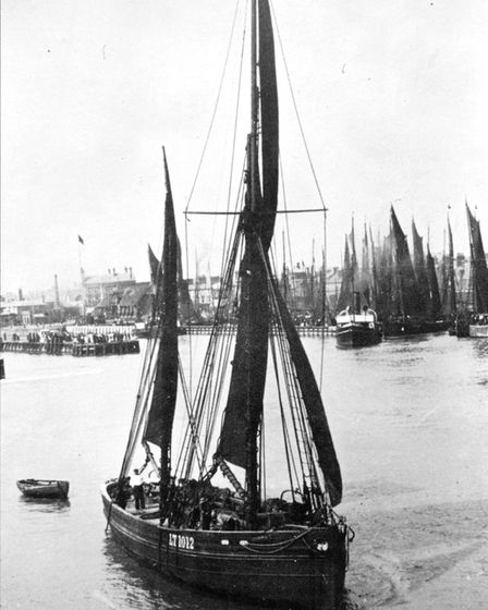 There was a timerare photographs of the glory days of the fishing industry on the East Anglian coast