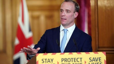 Foreign Secretary Dominic Raab said there is a long way for the UK to go before the restrictions can