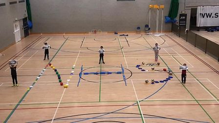 UEA Sportspark, in Norwich, has reopened as a day-care facility to support and acknowledge the hard