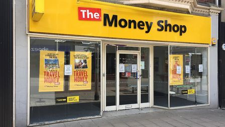 The Money Shop in Lowestoft, after it closed last year. It is still vacant, but remains available, w