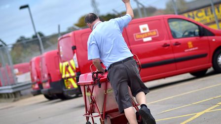 Royal Mail are asking the public to give their postie a thumbs up. Picture: ANTONY KELLY