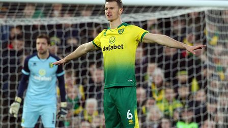 Christoph Zimmermann of Norwich during the Premier League match at Carrow Road, Norwich Picture by P