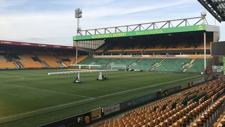 They were set to perform on a stage at the Barclay end at Carrow Road Picture: Lauren De Boise.