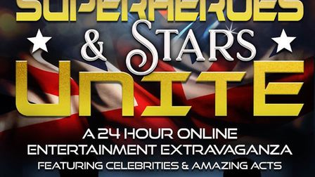 Superheroes and Stars Unite raises money for NHS frontline workers and runs from 24 hours from 9am o