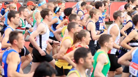 The 2020 London Marathon has been postponed until October due to the coronavirus pandemic. Pictured