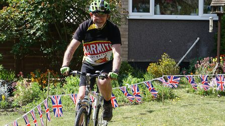 Mike Bowen, from Diss, is taking on the 2.6 challenge for St Nicholas Hospice Care, based in Bury St