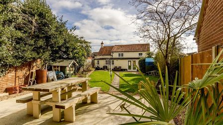 Old Barn Cottage, Necton, is on the market at a guide price of £300,000-£325,000. Picture: Longsons