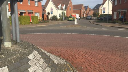 The scene of a stabbing on Mountbatten Drive in Old Catton. Picture Peter Walsh.
