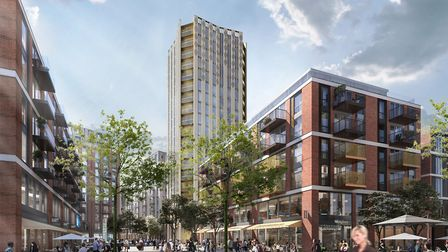 Plans for a 20-storey tower in Anglia Sqaure. Photo: Weston Homes