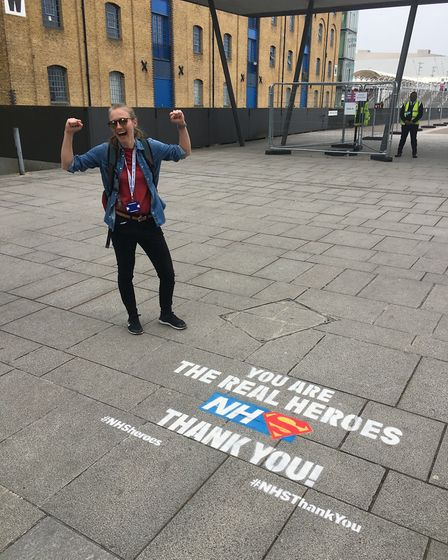UEA student Alex Hunter was one of the volunteers at the Nightingale Hospital at London's Excel Cent