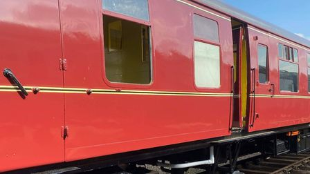 A number of railway carriage windows were smashed and a seasonal display was damaged, resulting in e