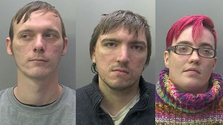 Left to right, Guy Delph, Kieran Burton and Lee Calder. Pictures: Cambs Police