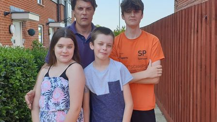 Gary Blundell, pictured with his children, has organised Costessey has got talent. Picture: Gary Blu