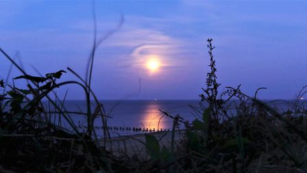 The last supermoon of the year taken on Richards daily walk during lockdown Photo: Richard Girling