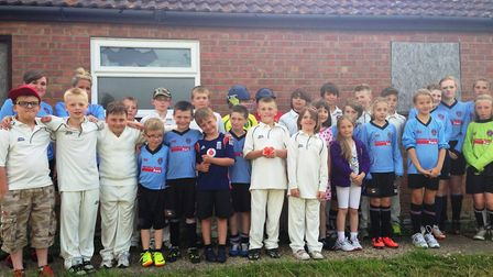 Young cricket and football players from the Bungay & District Sports Association whose kit has been