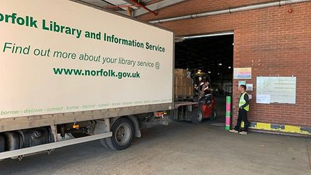 A new distribution centre has been created in Norwich for food and PPE. Pic: Norfolk County Council.