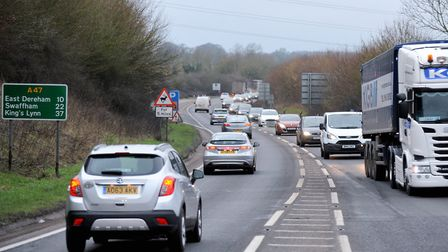 The A47 between North Tuddenham and Easton. Pic: Highways England.