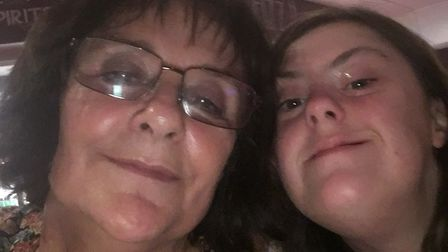 Marilyn Heath with daughter Sara whose care costs are set to rise under the council's changes. Photo