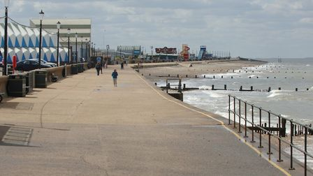 An almost empty promenade at Hunstanton on May 12, the day before lockdown was partially lifted Pic