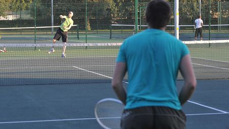 People can now play tennis with someone from another household. Photo: Bill Smith
