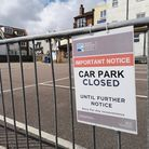 A closed coastal car park in Sheringham. All but two council-run car parks in North Norfolk remain c