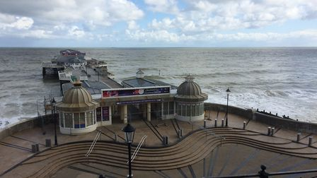 Cromer Pier remains closed. May 13 is the first day the lockdown restrictions have been eased, which