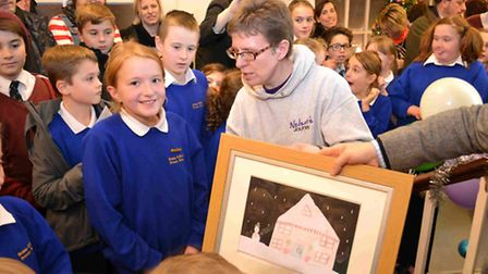Sowerbys Dereham asked local schools to enter a competition to draw 'their home at Christmas', with