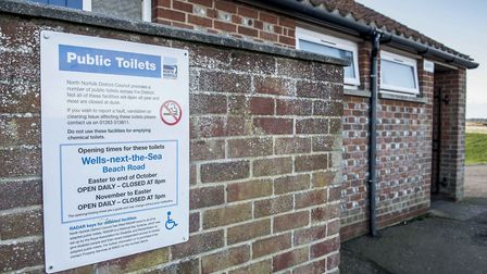 The public toilets on Beach Road near Wells Quay. Picture: Matthew Usher.