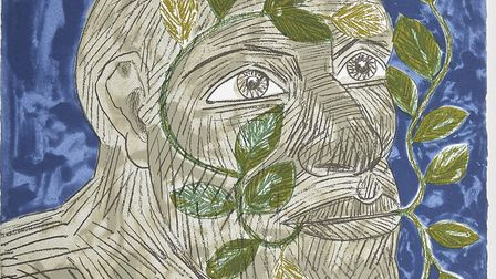The Green Man drawing by Elisabeth Frink. Picture: Pete Huggins