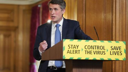 Education secretary Gavin Williamson speaking during a media briefing in Downing Street. Picture: Pi