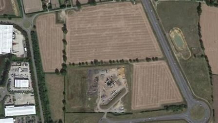 More than 500 homes could be built on this patch of land at Postwick. Pic: Google Maps.
