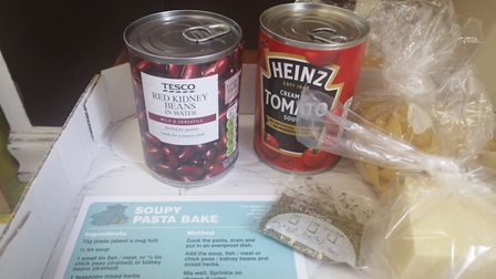 The food bank, a partnership between Adat Yeshua Synagogue and the NR2 Community Skill Share group,