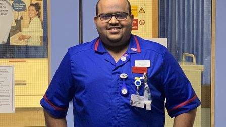 Sam Jude, who has retured to work at the Queen Elizabeth Hospital after recovering from Covid-19 Pi