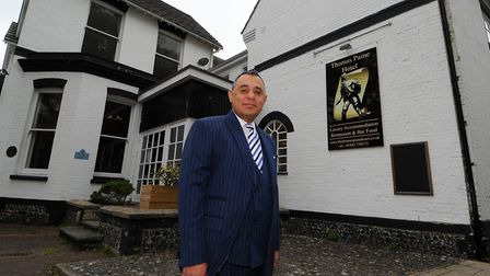 Gez Chetal, the owner of the Thomas Paine Hotel in Thetford Picture: Simon Parker