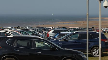 Hunstanton's cliff top car park was full on the hottest day of the year so far, despite the coronavi