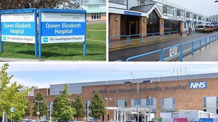 Norfolks three hospitals have reported a surge in A&E patients since lockdown measures were eased. P