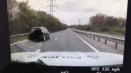 A driver was caught speeding at 132mph on the A47 near Acle. Picture: Norfolk and Suffolk's Roads a