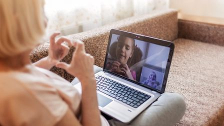 Many families are keeping connected online during the lockdown. Picture: Getty Images/iStockphoto/Ma