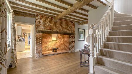 A true Norfolk paradise: Franklins Farm in Lower Bodham near Holt is on the market for £1,850,000. P