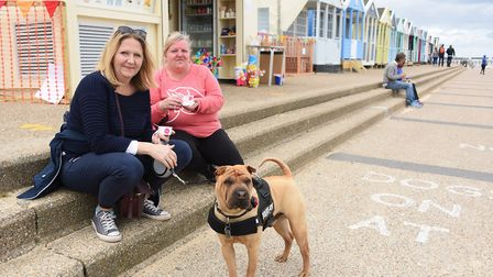 Ice creams at Southwold beach as the spring bank holiday weekend weather is overcast and windy. Pict
