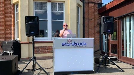 Mick Laney has been using his DJ equipment to allow people to have a dance on their doorstep on Sund
