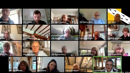 North Norfolk District Council (NNDC) held a meeting of its scrutiny meeting on Zoom. Photo: Zoom/Yo