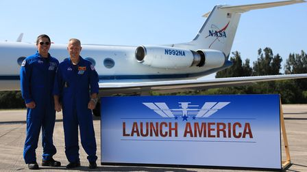 Astronauts Robert Behnken and Douglas Hurley. The joint effort by Nasa and SpaceX to send astronauts