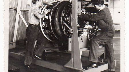 Rod Clark, pictured doing engineering work. Picture: The Clark family