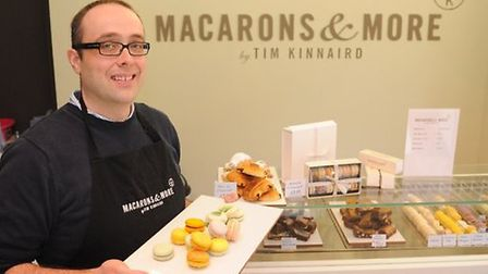 Tim Kinnaird, owner of Macarons & More in Norwich, is one of the former MasterChef contestants that