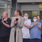 Clap for Carers Norfolk & Norwich Hospital 30th April 2020. Pictures: BRITTANY WOODMAN