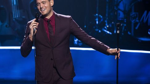 Michael Buble performs at the Apple Music Festival at the Roundhouse in Camden, London.